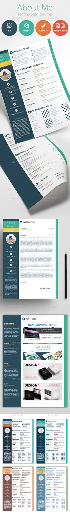 About Me - Professional #Resume - Resumes #Stationery Download here: https://graphicriver.net/item/about-me-professional-resume/11331296?ref=alena994