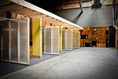 pivoting walls that are light and cheap.