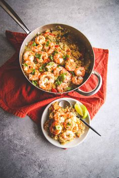 Healthy one pot Thai quinoa and shrimp recipe