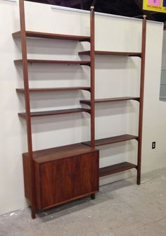 Danish Modern Wall Unit Tension Poles Unique 1960 S Mid Century Shared Office