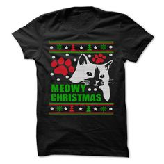 Meowy Ugly Christmas Sweater T Shirt, Hoodie, Tee Shirts ==► Shopping Now!