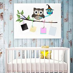 Gemini Fairy Cartoon Little Owls Nursery Wall Stickers Wa…