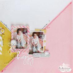 """scrapbook layout """"cute girl"""" by kushi per ScrapItEasy"""