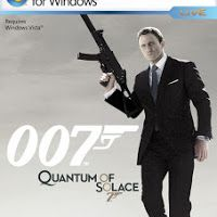 http://technologiser.blogspot.com/2013/06/james-bond-007-quantum-of-solace-pc.html      System Requirment    Operating System : Window Xp , Window 7 ,Window 8  Processor : Intel Pentium IV 2.8 Ghz   Ram : 512 Mb For Window Xp And 1 Gb For Window 7 or Window 8  Video Card Memory : 256 Mb  Hard Disk Space : 6.5 Gb  Direct X 9.0c  Sound With Direct X  Keyboard  Mouse