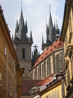 The church of Our Lady in front of Týn (from behind), Old Town Prague, Czechia #city #Prague #cityscape #Czechia
