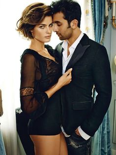A Private Affair – Taking on romance, Isabeli Fontana stars alongside Indian actor Ranbir Kapoor for the October cover shoot of Vogue India. Isabeli Fontana, Boudoir Photography, Couple Photography, Fashion Photography, Modeling Photography, Vogue India, Couple Posing, Couple Shoot, Couple Boudoir