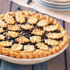 Blueberry Dream Pie Recipe -This show-stopping pie can be decorated to fit any season. I like to make stars for Independence Day, leaves for fall, hearts for Valentine's Day or even flowers for spring. Have fun with it! —Kerry Nakayama, New York, New York