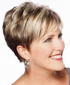 Résultat d'images pour short hair styles for women over 50 gray hair