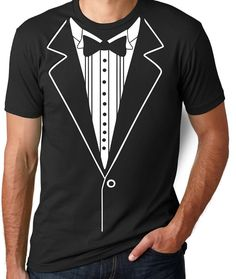 Tuxedo T Shirt Funny Gifts for Men Funny T Shirts by threadedtees
