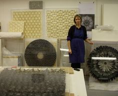 Gill Wilson produces handmade paper using natural plant fibre as the raw material for architectural and interior schemes.