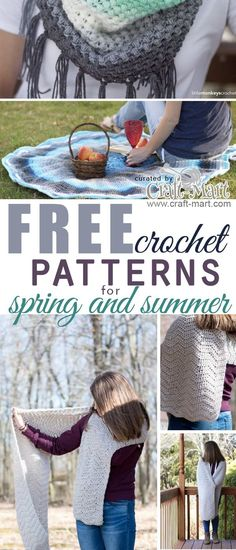 Are you looking for a great, free, & easy crochet projects for spring and summer? You may think that crochet and knitting… Chunky Crochet, Crochet Beanie, Diy Crochet, Crochet Shawl, Crochet Stitches, Crochet Patterns, Afghan Patterns, Crochet Things, Crotchet