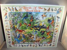 Birds of the Backyard Puzzle 1000 Pcs Orioles Cardinal Robin Goldfinch Sparrow - $24.95