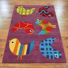 Kids 3076/51 Tweety Birds Purple Rugs - buy online at Modern Rugs UK