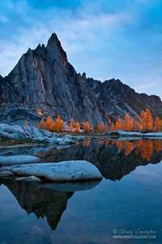 Enchantments, Alpine Lakes Wilderness | ... at sunrise; The Enchantments, Alpine Lakes Wilderness, Washington