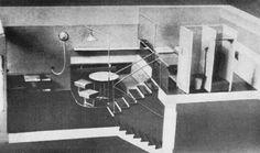 Эль Лисицкий. Проект жилого интерьера. 1927год.