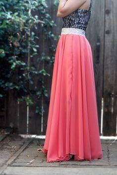 Hilos y botones: DIY falda larga círculo (tutorial)