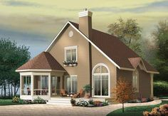 Eplans Craftsman House Plan - Front Screened Gazebo - 1468 Square Feet and 3 Bedrooms from Eplans - House Plan Code HWEPL11195