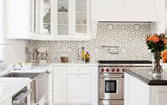 kitchen interior The Zellij (tiles) trend, for a modern home with a Moroccan touch