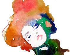Ilustración de moda, Ilustración de moda imprimir, acuarela moda moda cartel, bosquejo de moda, arte de la pared de moda, regalo de moda