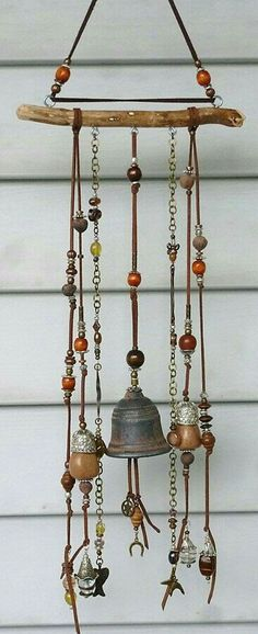 repurposed items make a nice wind chime