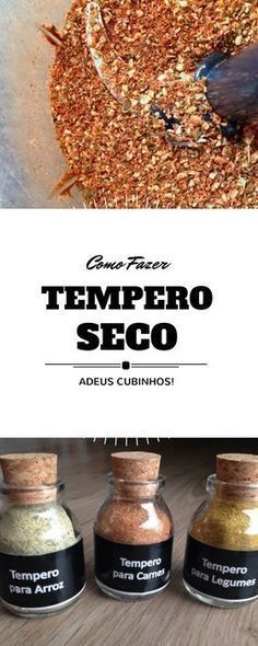 como fazer sazon em casa, como fazer tempero seco caseiro Veggie Recipes, Cooking Recipes, Healthy Recipes, Menu Dieta, Portuguese Recipes, Sauce, Drinking Tea, Food For Thought, Food Hacks