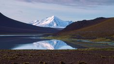 Mirrored Mountain Andes Bolivia