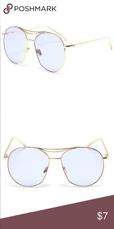cde2cf9a71 I just added this listing on Poshmark  NEW! Large Blue- Gold Frame  Sunglasses