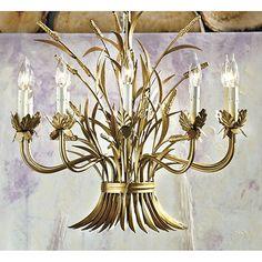 Wheat Sheath Chandelier  I  ballarddesigns.com