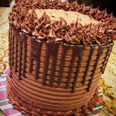 German chocolate drip cake by Kim's Sweet Karma.
