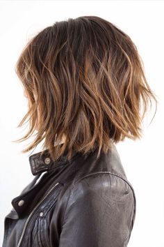 That's a cool chick. textured bob with highlights