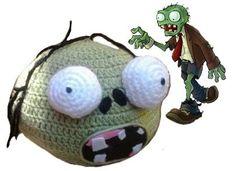 Gorro Tejido Crochet Personalizado Angry Birds Zombies Idd