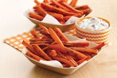 Grin 'n Carrot Fries Recipe | Hungry Girl
