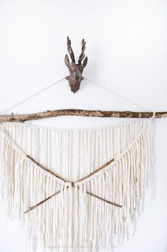 diy aztec wall hanging
