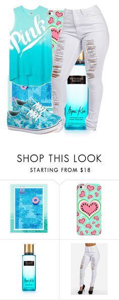 """""""pool blue"""" by eirinimaria ❤ liked on Polyvore featuring Casetify, Victoria's Secret and Vans"""