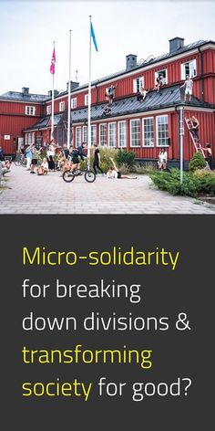 """""""The House of Blivande"""" is a centre for participatory art, interdisciplinary culture & visionary community building in Stockholm. Blivande is founded on the principles of micro-solidarity and the belief that building networks of creative people emerged in participatory culture principles can help society meet challenges in more holistic ways. #NewEuropeanBauhaus #EuropeForCulture #SocialInnovation #EUGreenDeal 📸 House of Blivande / © Ketter Raudmets"""