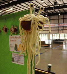 flying spaghetti monster parody :)