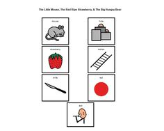 the little mouse, red ripe strawberry and the big hungry