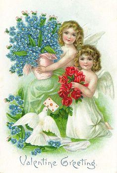 Shop Vintage Valentine Stickers Created By Golden_oldies.