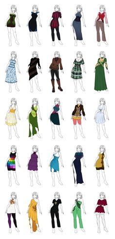 Miscellaneous Clothes Designs 1 by Maddalina Mocanu on DeviantArt — Clothing studies — Drawing references