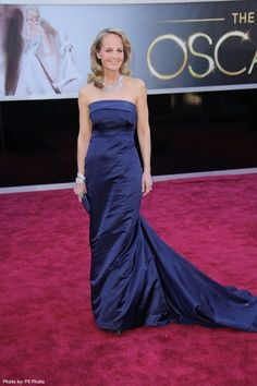 Oscars 2013: Gorgeous Wedding-Worthy Dresses. Helen Hunt was the epitome of Hollwood glamour in a H & M midnight blue satin gown. - See more at: http://celebritystyleweddings.com/fashion-and-style/oscars-2013-gorgeous-wedding-worthy-dresses/#sthash.ae0DEvkH.sXO7gQn2.dpuf   @Celebstylewed