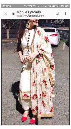 White Punjabi Suits, Punjabi Suits Party Wear, Indian Party Wear, Punjabi Suits Designer Boutique, Indian Designer Suits, Patiala Suit Designs, Saree Blouse Designs, Sari Blouse, Embroidery Suits Punjabi
