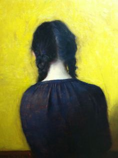 "Jeremy Lipking, ""Braids,"" Oil on Linen - www.Art-Competition.Net"