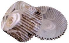 Formičky na muffiny a cupcakes 50ks č. Muf-48 bílé růže
