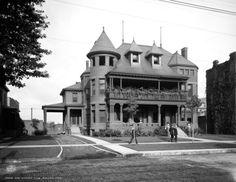 1908 East Saginaw Club, Saginaw, Michigan Vintage Photograph 8.5 X 11 Reprint