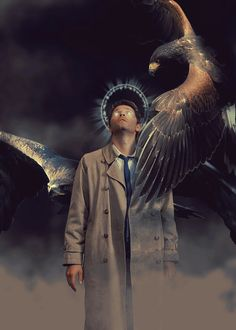 Castiel: bird of prey #spn