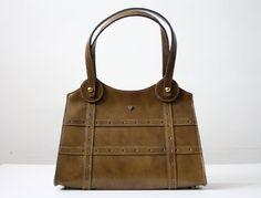 vintage olive handbag. $48.00, via Etsy. Darn it! of course I'd like the vintage can't find it bag.