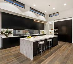 Kitchen Room Design, Modern Kitchen Design, Interior Design Kitchen, Kitchen Island Bench, Kitchen Dining, Kitchen Decor, Kitchen Ideas Australia, Diy Dining Room Table, House Cladding