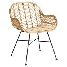 Rotan stoel met subtiel onderstel. 66x60x81 cm (lxbxh). Deze stoel is niet geschikt voor gebruik buiten. #stoel #kwantumstijl