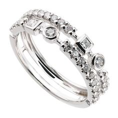18ct white gold 0.49 carat diamond ring