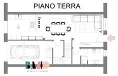Pianta piano terra Piano, Floor Plans, Terra, Interior Design, Laundry, Buildings, Modern, Design Interiors, Home Interior Design